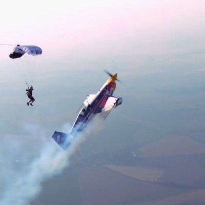 Airplane vs. Parachutist